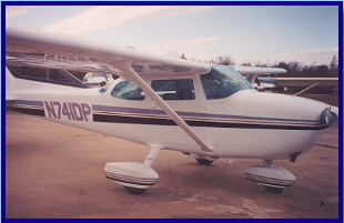 Cessna 182 with new paint