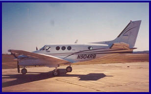 Beechcraft, King Air with new paint